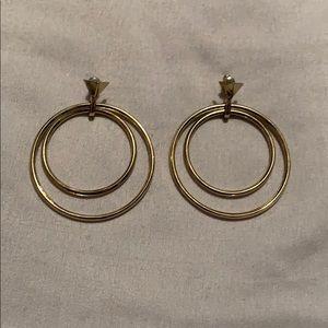 Gold Double Hoop Earrings